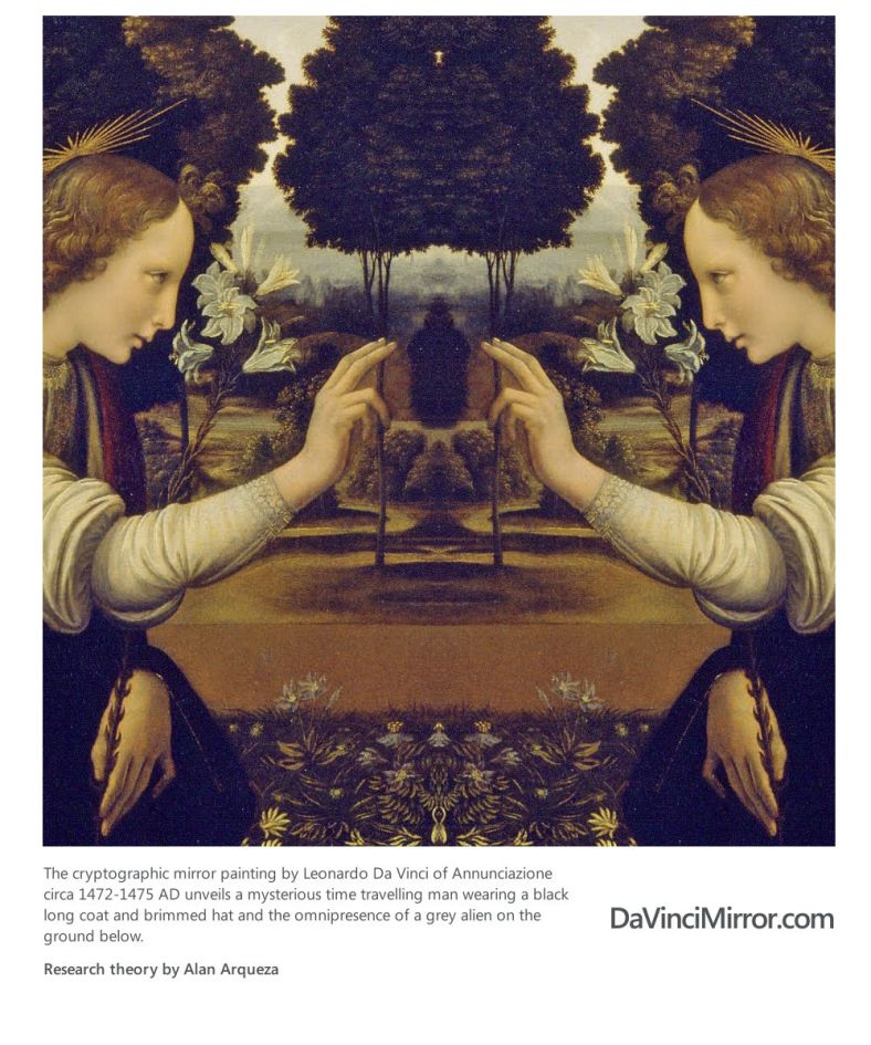 Is There A Binary Code Message Hidden In Mona Lisa ... Da Vinci Paintings Mirrored